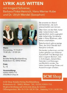 Plakat Schreiner - Kube - Finke-Heinrich