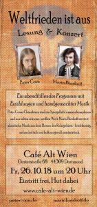 Peter Coon und Mario Bierhoff im Café Alt Wien