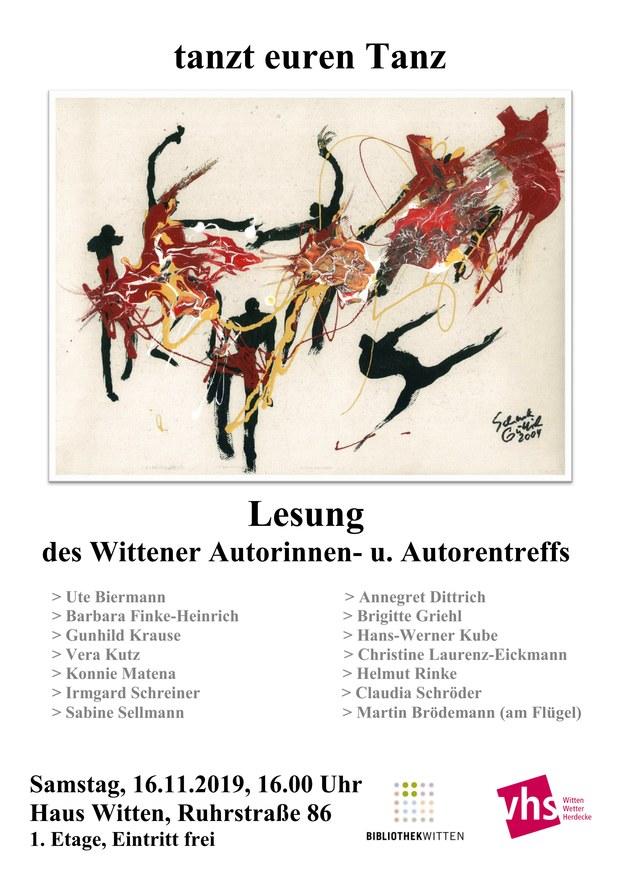 Wittener Autorentreff - Jahreslesung 2019 - Plakat