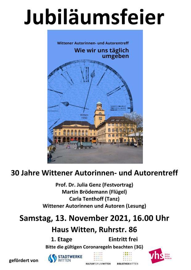 Plakat 30 Jahre Wittener Autorntreff